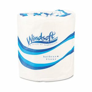 Windsoft Standard 1-ply Toilet Paper, 96 Rolls WIN2210