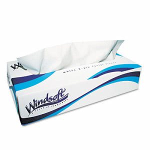 Windsoft Facial Tissues, 2-Ply, 100/Box, 30 Boxes/Carton (WIN2360)