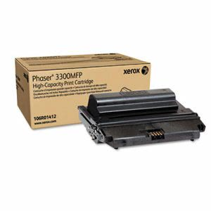 Xerox 106R01412 High-Yield Toner, 8000 Page-Yield, Black (XER106R01412)