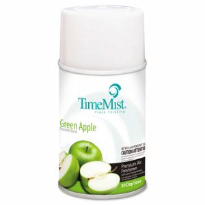 TimeMist Metered Air Freshener Refills, Green Apple, 12 Refills (TMS 2516)
