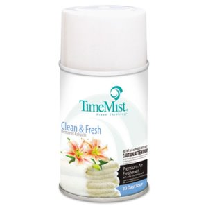 Timemist Metered Dispenser Refill, Clean & Fresh, 12 Cans (TMS1042771)