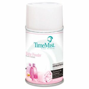 TimeMist Premium Metered Air Freshener Refills, Baby Powder, 12 Cans (TMS 2512)