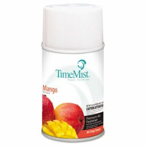 Timemist Metered Fragrance Dispenser Refills, Mango, 6.6oz, 12 Refills (TMS1042810)