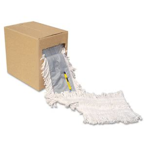 "Boardwalk Flash Forty Disposable Dustmop, Cotton, 5"", Natural (BWKFF40)"
