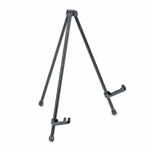 "Universal Portable Tabletop Easel, 14"" High, Steel, Black (UNV43028)"