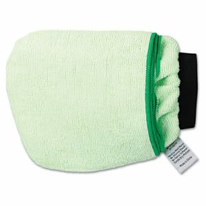 Boardwalk Grip-N-Flip 10-Sided Microfiber Mitt, Green, Each (BWKMICROMITTGRE)