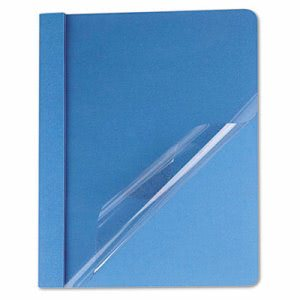 Universal Clear Front Report Cover, Letter Size, Blue, 25 Covers (UNV57121)