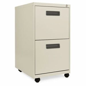 "Alera Two-Drawer Metal Pedestal File, 27-3/4"" High, Putty (ALEPAFFPY)"