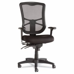 Alera Elusion Series Mesh High-Back Multifunction Chair, Black (ALEEL41ME10B)