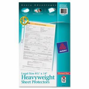 Avery Top-Load Polypropylene Sheet Protector, Clear, 25/Pack (AVE73897)