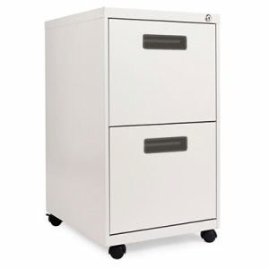 Alera Two-Drawer Mobile Pedestal File, Light Gray (ALEPA542820LG)