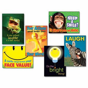 "Trend Assorted ""Attitude and Smiles"" Motivational Prints, 6/Pack (TEPTA67920)"
