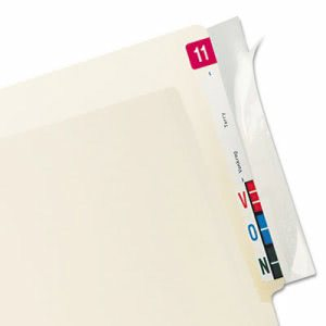 Tabbies Protector, End Tab Folder, 8x2, Clear, 100/PK (TAB68386)