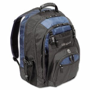 "Targus 17"" Laptop Backpack, File Compartment, Black/Blue (TRGTXL617)"