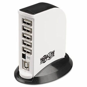 Tripp Lite U222-007-R 7-Port USB 2.0 Hub, Black and White, Each (TRPU222007R)
