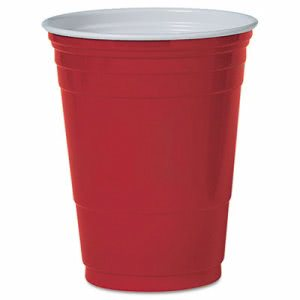 Solo Plastic Party Cold Cups, 16-oz., Red, 50 Cups (DCCP16RPK)