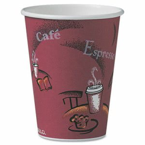 Solo Cup Bistro Design Hot Drink Cups, Paper, 12 oz, 300 Cups (SCC OF12BI)