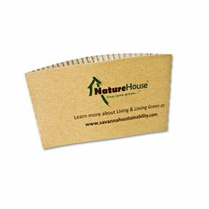 Naturehouse Hot Cup Sleeves, Fits 8-oz Cups, 50/Pack (SVAS01)