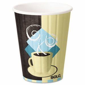 Solo Duo Shield Insulated 12 oz Hot Paper Cups, Beige, 600 Cups (SCCIC12J7534CT)