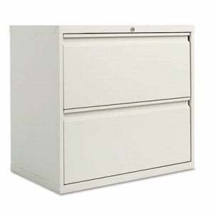 Alera 2 Drawer Lateral File Cabinet, 30w x 19-1/4d x 29h, Gray (ALELF3029LG)