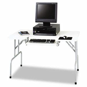 Safco Folding Computer Table, 47-1/2w x 29-3/4d x 28-3/4h, Gray (SAF1935GR)
