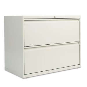 Alera 2-Drawer Lateral File Cabinet, 36w x 29h, Light Gray (ALELF3629LG)
