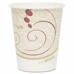 Symphony 10-oz. Paper Hot Cup, 1,000 Cups (SCC 370SMSYM)