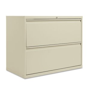 Alera 2-Drawer Lateral File Cabinet, 36w x 29h, Putty (ALELF3629PY)