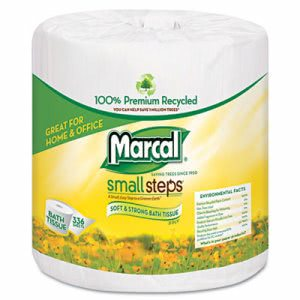 Marcal 100% Premium Recycled 2-Ply Embossed Toilet Tissue, 48 Rolls (MAC 6079)