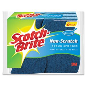 Scotch-brite Non-Scratch Multi-Purpose Scrub Sponge, 6 per Pack (MMM526)
