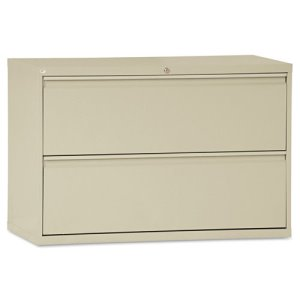 Alera Two-Drawer Lateral File Cabinet, 42w x 19-1/4d x 29h, Putty (ALELF4229PY)