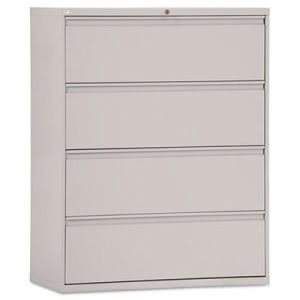 Alera Four-Drawer Lateral File Cabinet, Light Gray (ALELF4254LG)