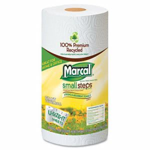 Marcal 100% Premium Recycled Giant Roll Kitchen Towels, 12 Rolls (MRC6183)