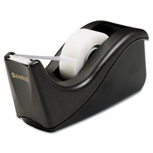 "Scotch Value Desktop Tape Dispenser, 1"" core, Two-Tone Black (MMMC60BK)"
