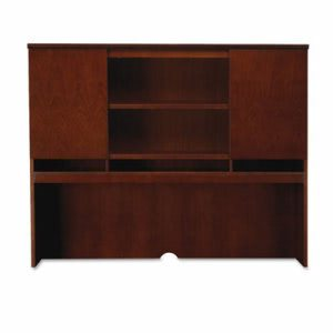 Mayline Sorrento Series Assmbld Hutch with Wood Doors, Cherry (MLNSHA72SCR)