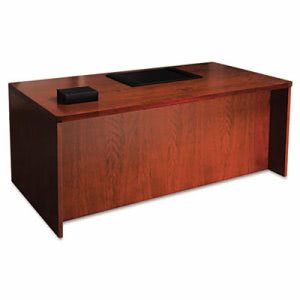 Mayline Mira Series Wood Veneer Straight Front Desk, 72w x 36d x 29½h, Medium Cherry (MLNMDKS3672MC)