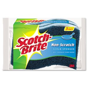 Scotch-Brite Non-Scratch Multi-Purpose Scrub Sponge, Blue, 3 Sponges (MMMMP3)