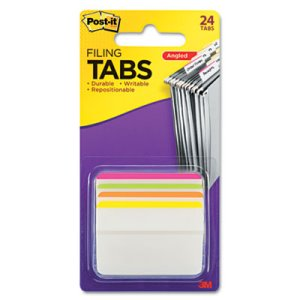 Post-it Durable Hanging File Tabs, Striped, 24 Tabs (MMM686A1BB)