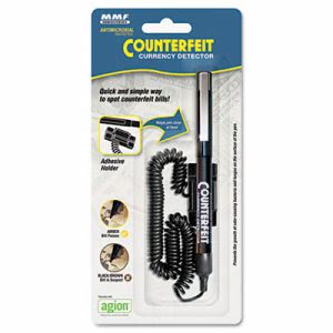 Mmf Industries Counterfeit Currency Detector Pen with Holder (MMF200045204)