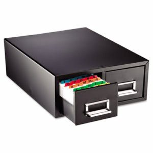 Steelmaster Drawer Card Cabinet, Holds 3,000 - 3 x 5 cards  (MMF263F3516DBLA)