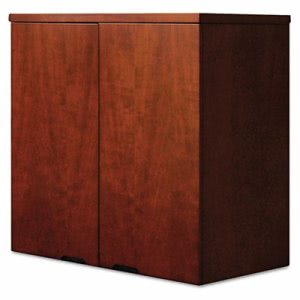 Mayline Mira Series Wood Veneer Wardrobe Unit, 34¾w x 24d x 38h, Medium Cherry (MLNMWD3624MC)