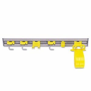Rubbermaid 1993 Closet Organizer/Tool Holders, 34in Length, Gray (RCP 1993 GRA)