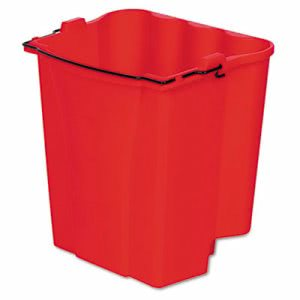Rubbermaid 9C74 Dirty Water Bucket for Wavebrake Bucket, Red (RCP9C7400RD)