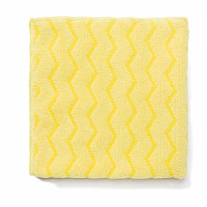 Rubbermaid Q610 Hygen Microfiber Bathroom Cloths, Yellow, 12 Cloths (RCPQ610)