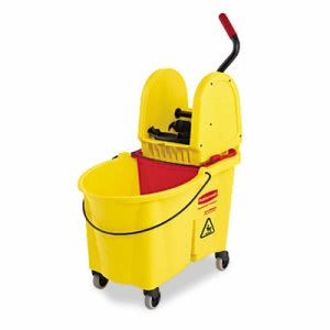 Rubbermaid 757688 WaveBrake 44 Qt. Mop Bucket/Wringer, Yellow (RCP757688YW)