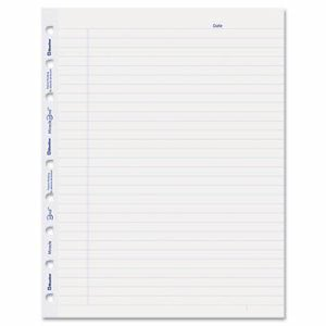 Blueline MiracleBind Notebook Ruled Paper Refill, 9-1/4 x 7-1/4, White, 50 Sheets/Pack (REDAFR9050R)