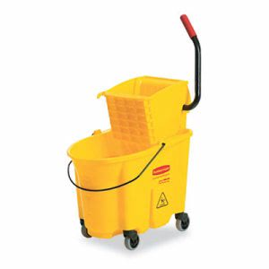 Rubbermaid 748018 WaveBrake 26 Quart Side Press Combo, Yellow (RCP748018YW)
