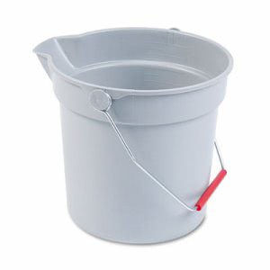 Rubbermaid 2963 Brute 10 Quart Round Utility Bucket, Gray (RCP 2963 GRA)