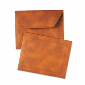 Designer Document Carrier, Expanding, Letter, 9 1/2 x 12, Brown (QUA89201)