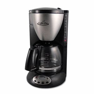 Coffee Pro Euro Style Coffee Maker, Black/Stainless Steel (OGFCPXQ679T)
